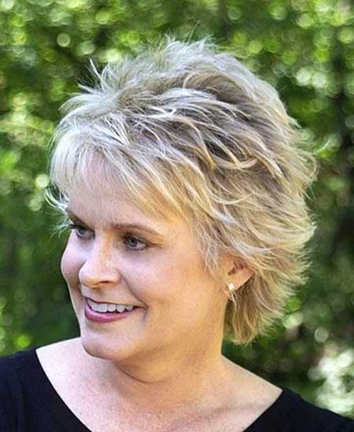 Nice Layered Pixie for Mature Women