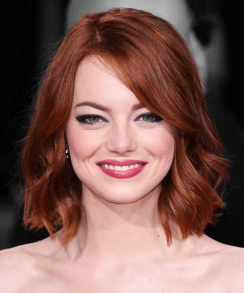 Nice Wavy Red Bob Hairstyles
