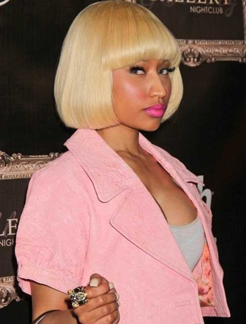 Nicki Minaj Blunt Blonde Bob Hairstyle