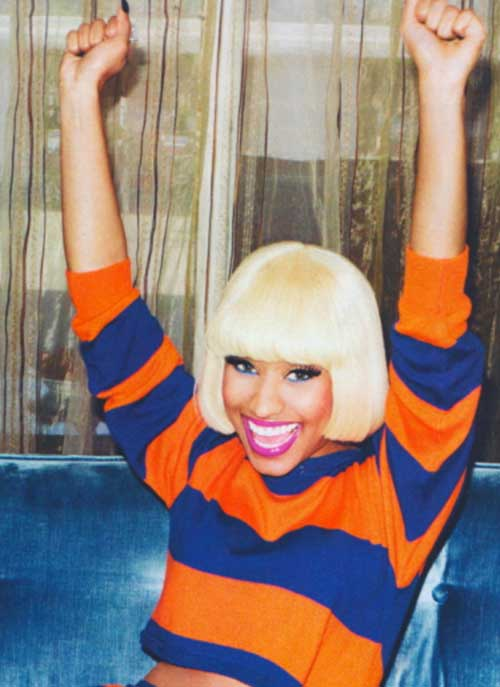 Nicki Minaj Bob Cut Blonde