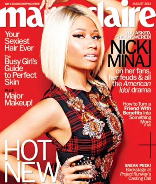 Nicki Minaj Line Blonde Bob Hairstyle Idea