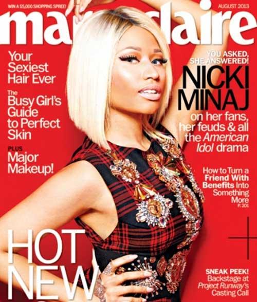 Terrific Nicki Minaj Blonde Bob Hairstyles Short Hairstyles 2016 2017 Short Hairstyles Gunalazisus