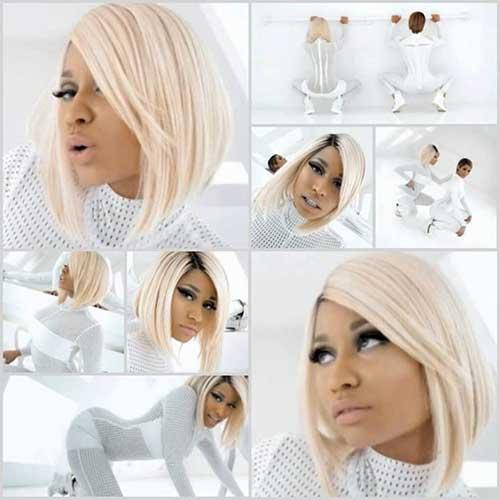Nicki Minaj Long Bob Hair