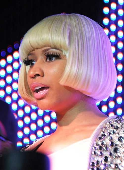 Nicki Minaj Blonde Bob Hairstyles