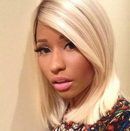 Nicki Minaj Simple Blonde Bob Hairstyle