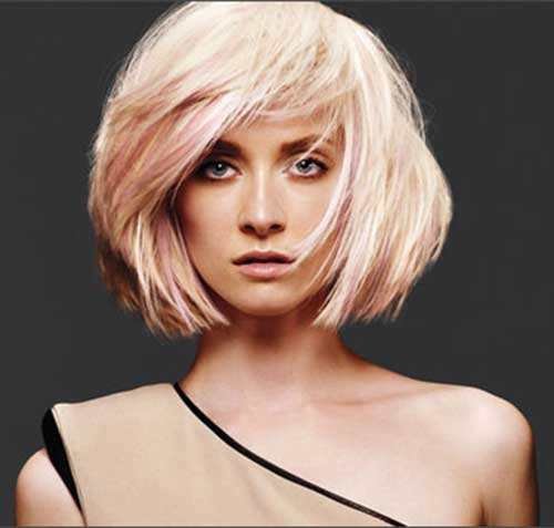 Pink And Blonde Short Bob Hair