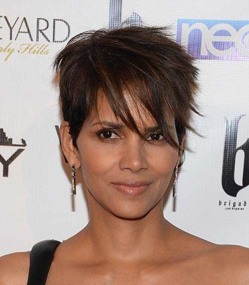 Straight Pixie Cut Halle Berry