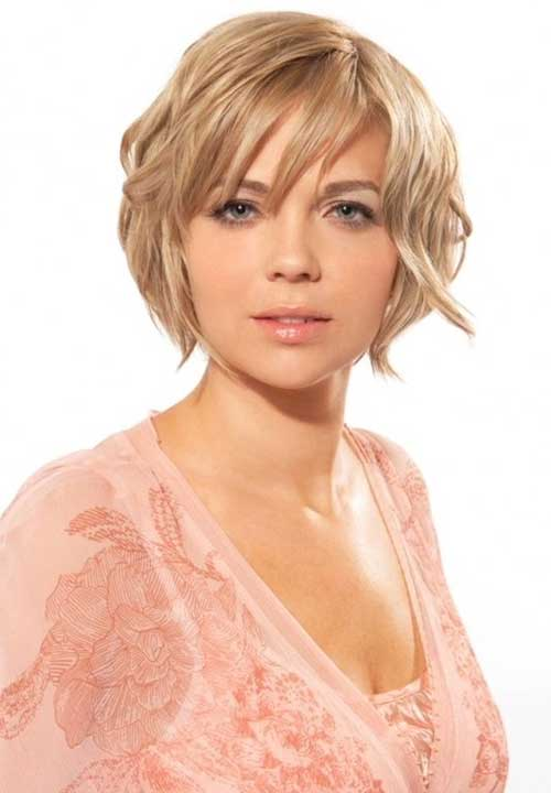 Long Layered Pixie Cut for Round Chubby Face