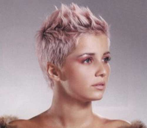 Pixie Hairstyles with Blonde Pink Color