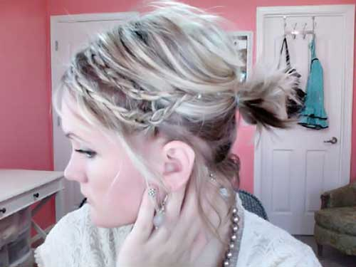 Braided Ponytail Hairstyles For Short Hair