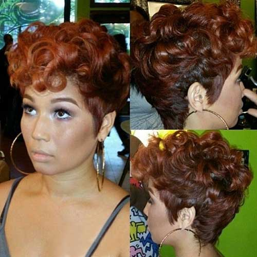 Pretty Curly Pixie Haircuts
