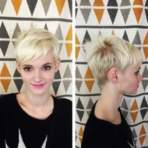 Pretty Blonde Pixie Cuts