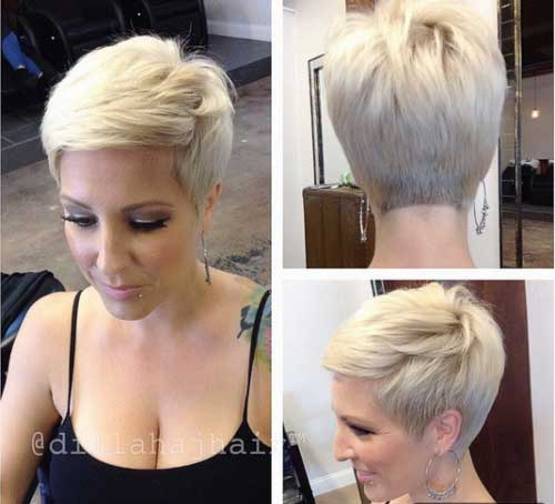 Pretty Straight Blonde Pixie Haircuts