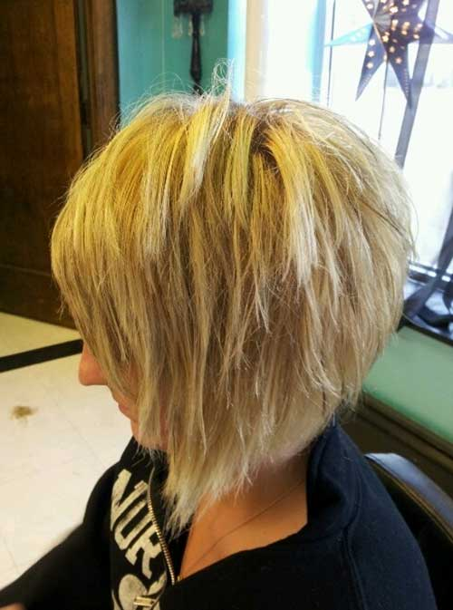Razored Bob Haircuts Back View