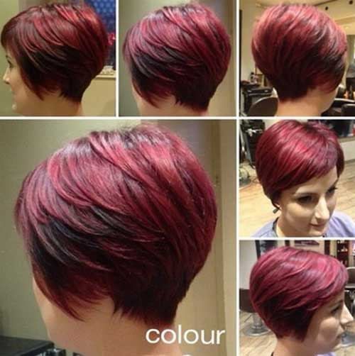 Red Layered Pixie Bob Cut Idea