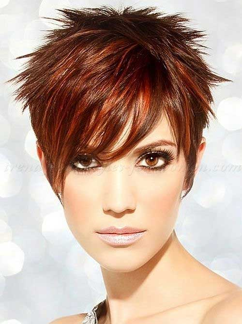 Red Layered Pixie Cut Ideas
