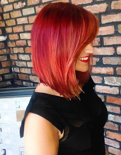 Red Line Bob Haircuts