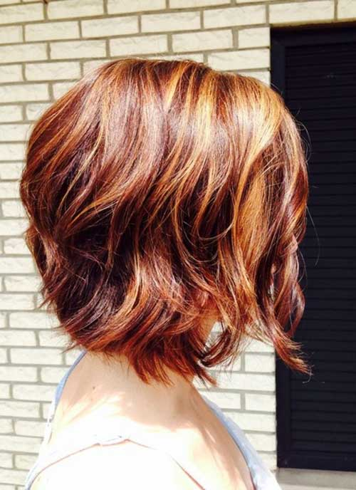 Red Wavy Bob Hairstyles
