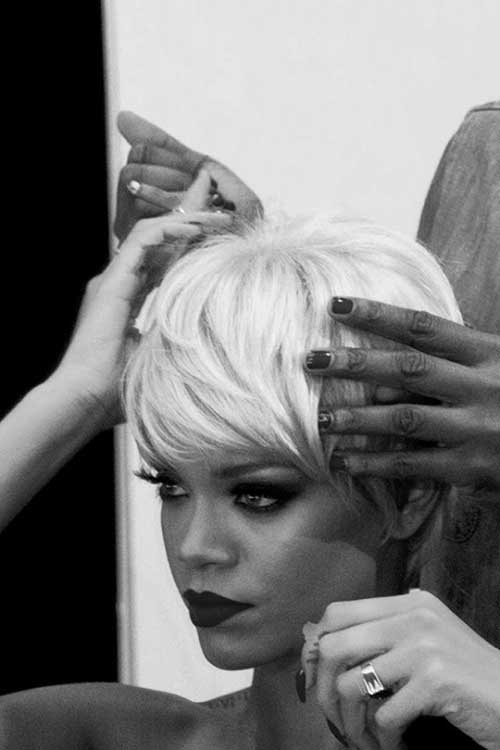 New Rihanna Blonde Short Hair