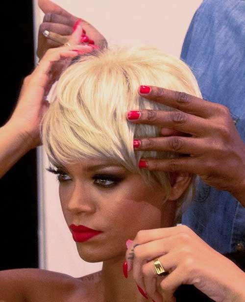 New Rihanna Blonde Short Hair
