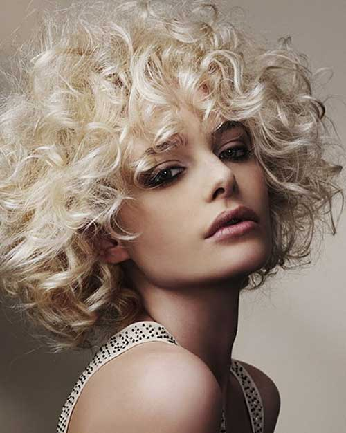 Short Blonde Curly Hair Perms