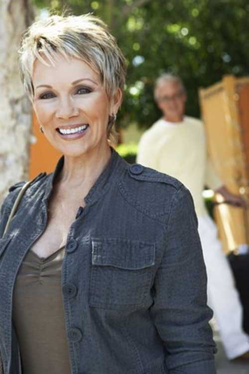 Short Blonde Pixie Hair Cuts for Over 50