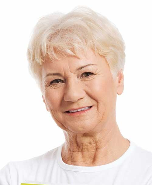 Short Blonde Pixie Hairstyles for Women Over 60