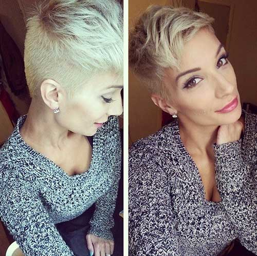 Short Blonde Undercut Hair Ideas