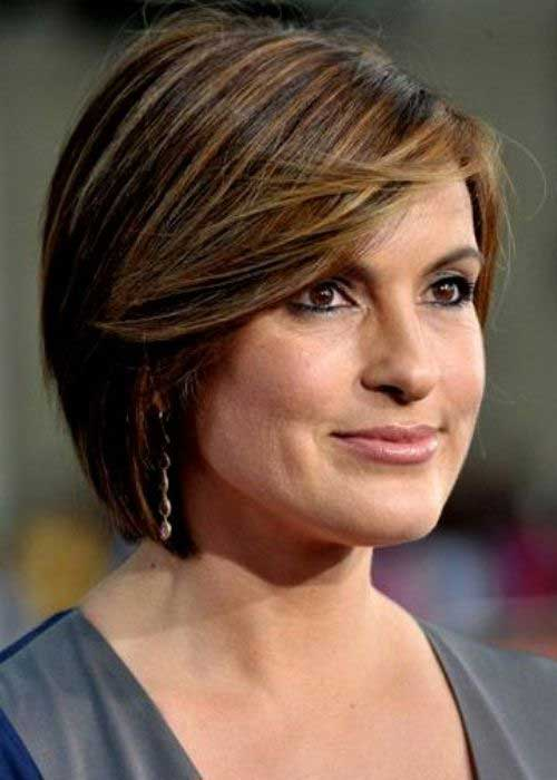 Short Brown Bob Hair for Over 40