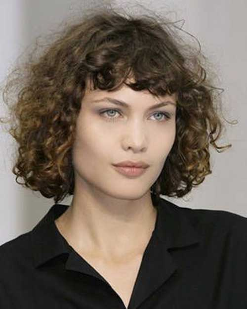 Short Brown Curly Hair Perms Ideas