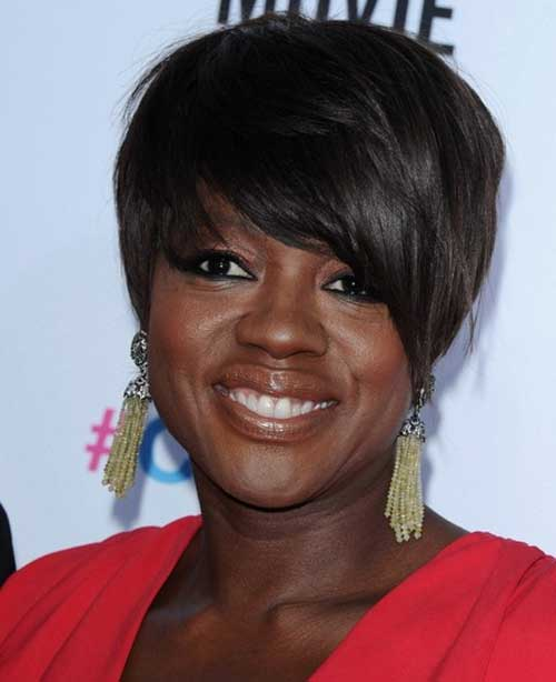 Short Brown Hairstyles with Bangs for Black Women