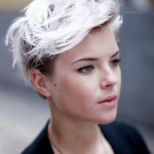 Short Cropped Platinum Blonde Hairstyles