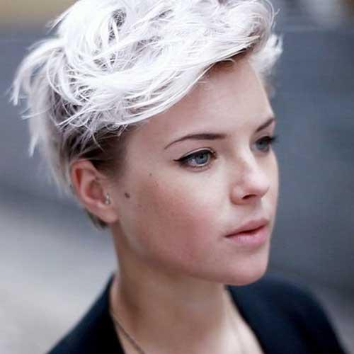 Short Cropped Platinum Blonde Hairstyles
