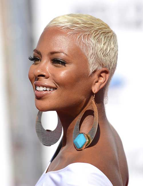 Short Cropped Thin Blonde Hair