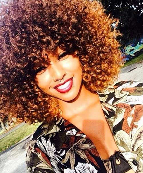 15 Short Curly Afro Hairstyle
