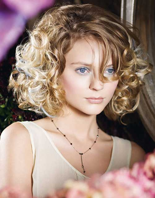Swell Best Hairstyles For Round Faces With Wavy Hair Best Hairstyles 2017 Hairstyles For Women Draintrainus