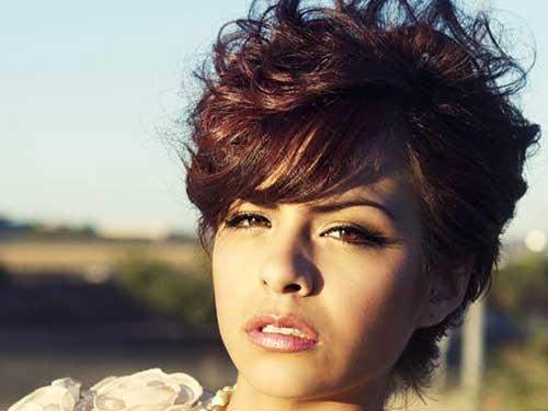 Pleasant Best Curly Short Hairstyles For Round Faces Short Hairstyles Hairstyles For Women Draintrainus