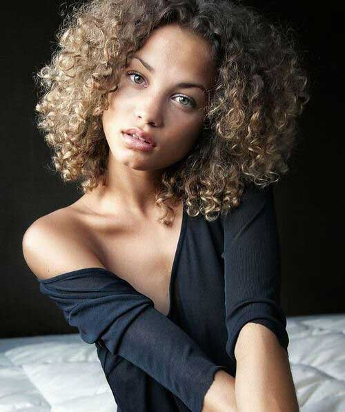 Short Curly Natural Ash Brown Hairstyles