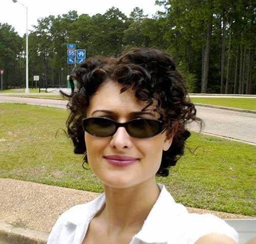 Short Curly Pixie Dark Hairstyles