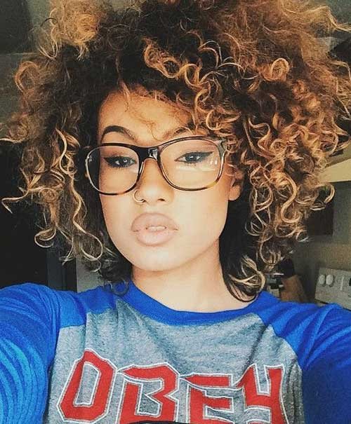 Beauty Short Curly Weave Hairstyles