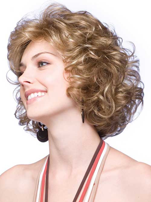 Short Cute Hairstyles for Thick Blonde Curly Hair