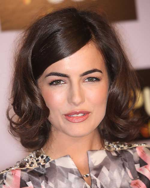 Short Cute Hairstyles for Thick Curly Bob Hair