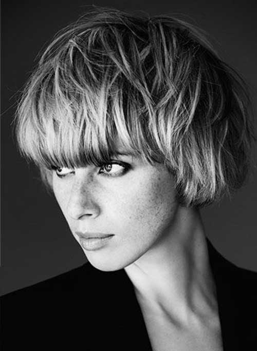 Short Cute Hairstyles for Thick Pixie Bob Hair