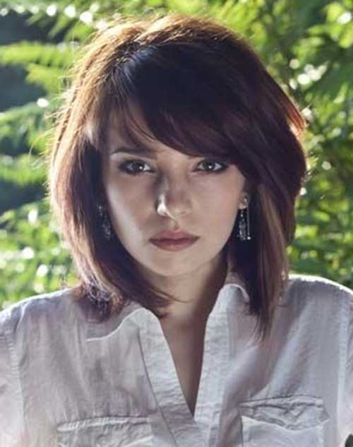 Short Cute Hairstyles with Bangs for Thick Nice Hair