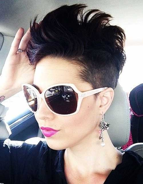 Short Dark Haircuts with Undercut