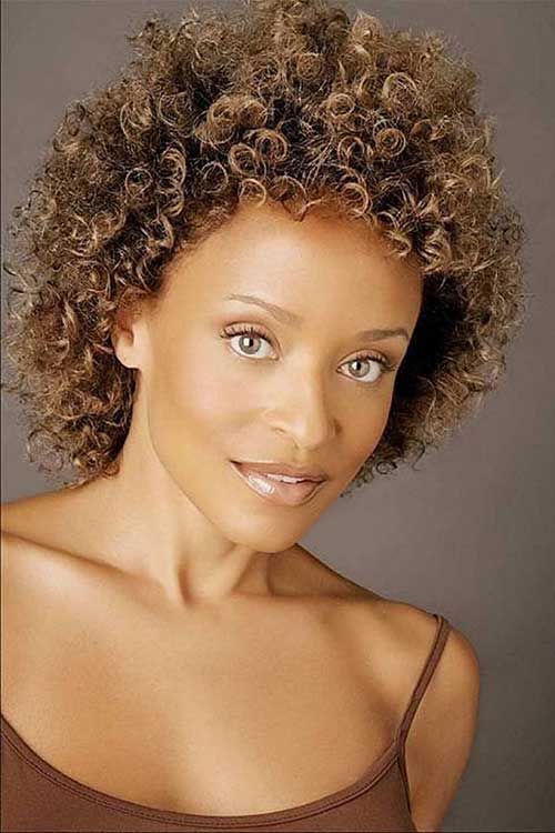 Short Easy Curly Natural Hairstyles