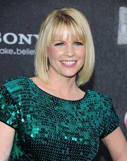 Best Short Fine Hair with Bangs Straight Style