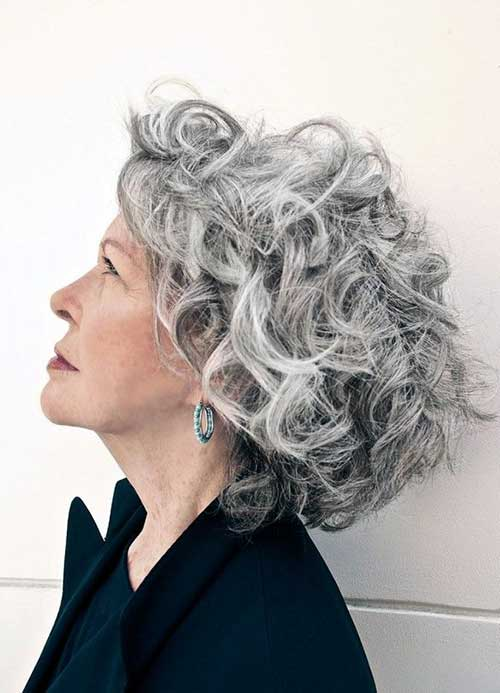 Curly Short Grey Haircuts