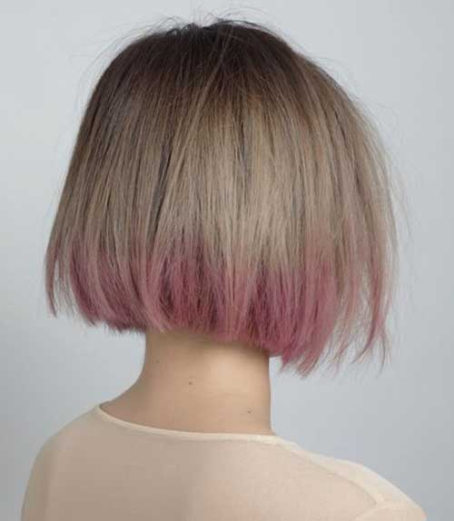 Short Hair Ash Blonde and Pink Ombre Style