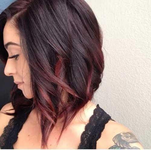 Short Hairstyles with Dark Blondie Red Ombre